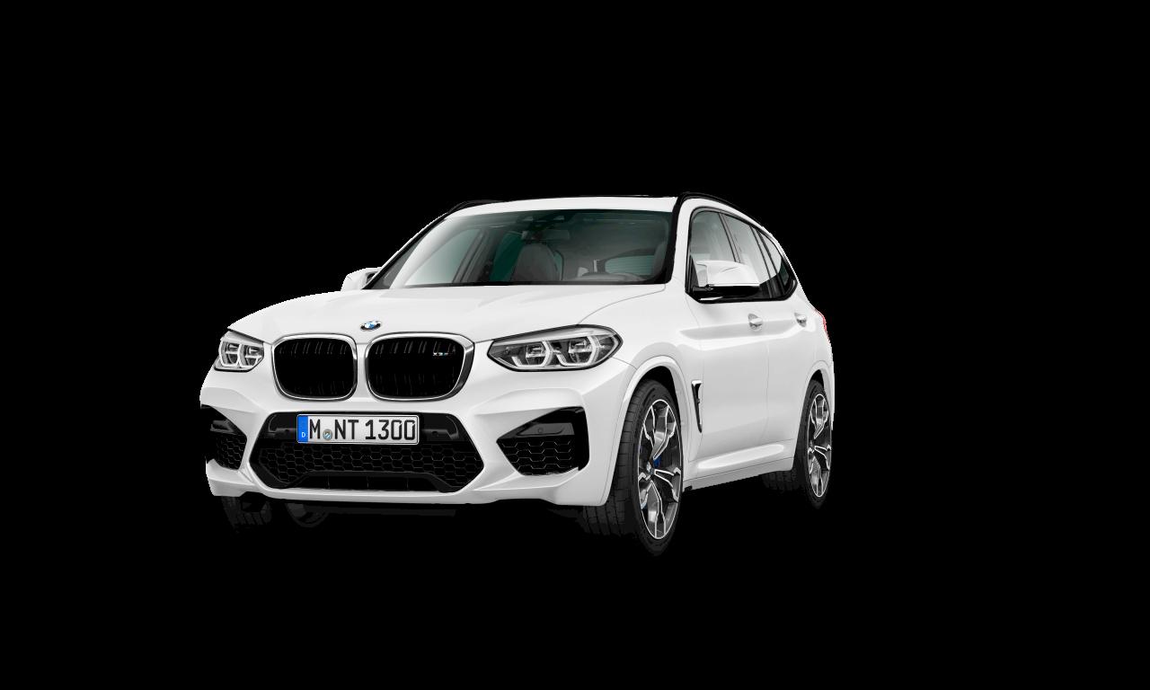 BMW X3 M in Alpinweiß, Exterieur.