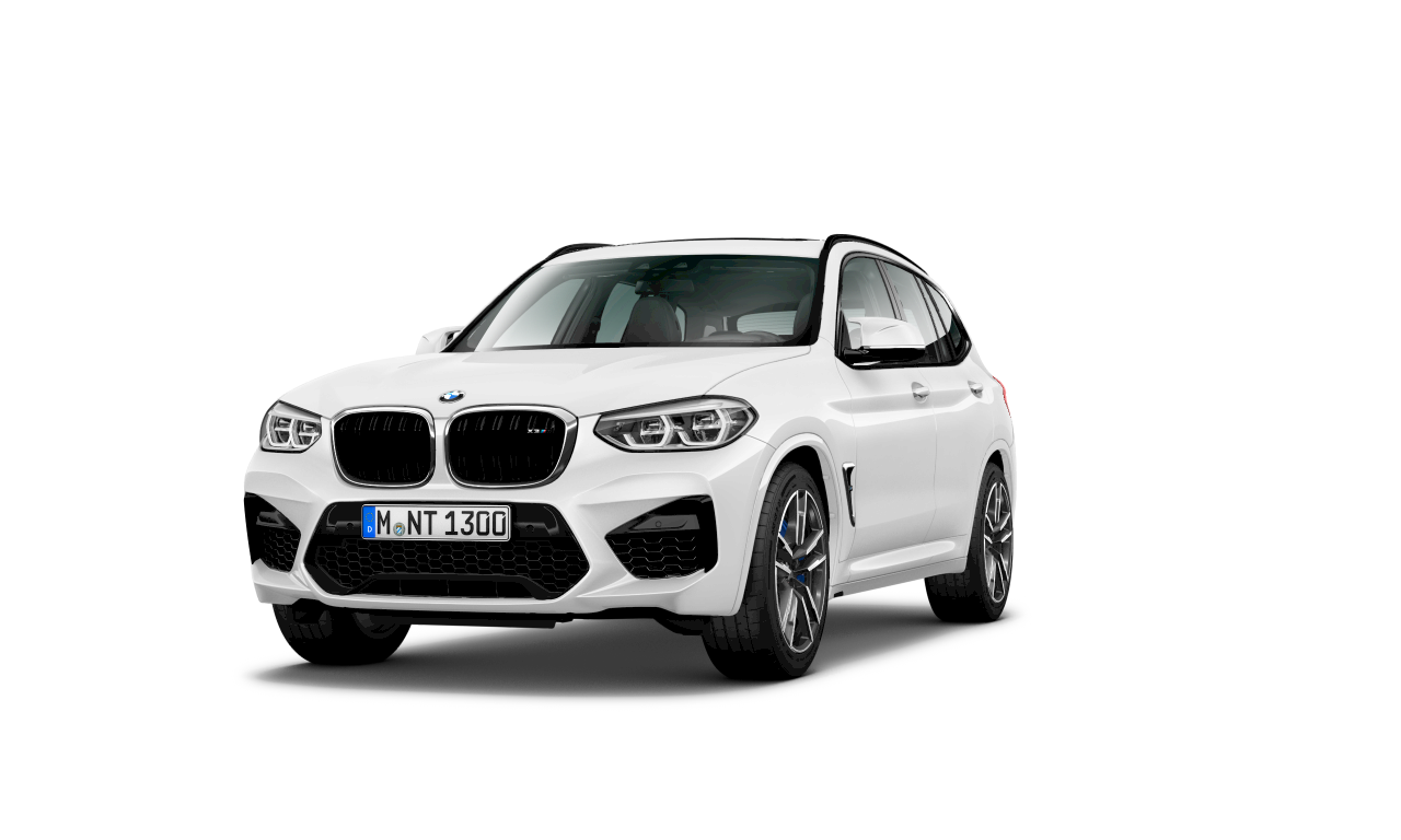 BMW X3 M in Alpine White, exterior.