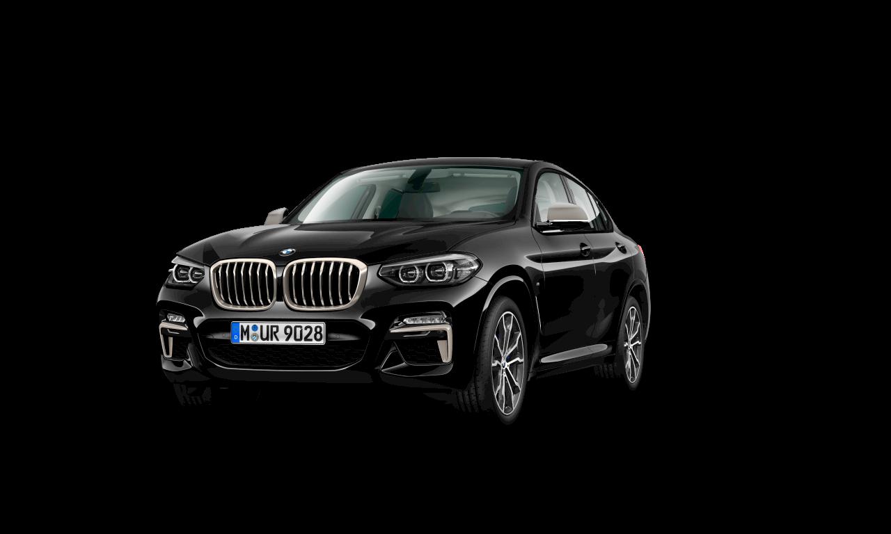 BMW X4 M40i em preto safira metálico, exterior.