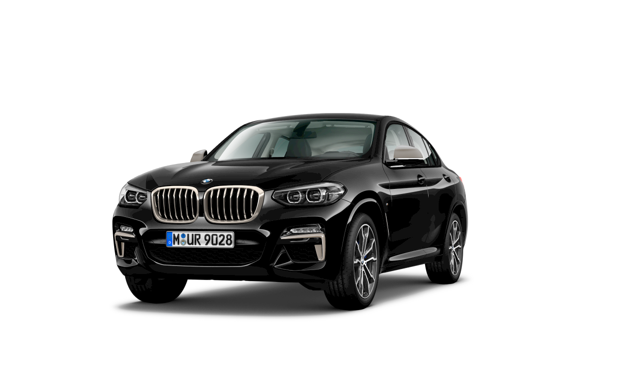 BMW X4 M40i en Black Sapphire metálico, exterior.