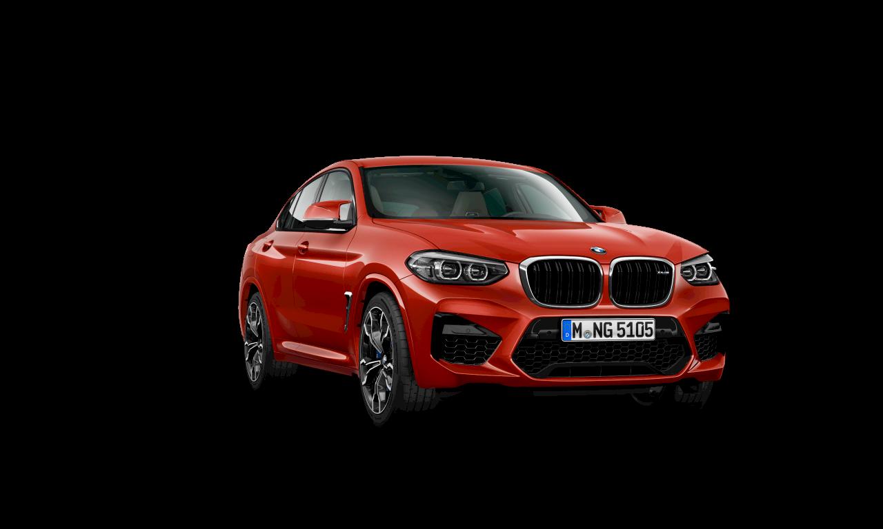 """سيارة BMW X4 M Competition بلون أحمر """"تورونتو"""" الميتاليك، الهيكل الخارجي."""