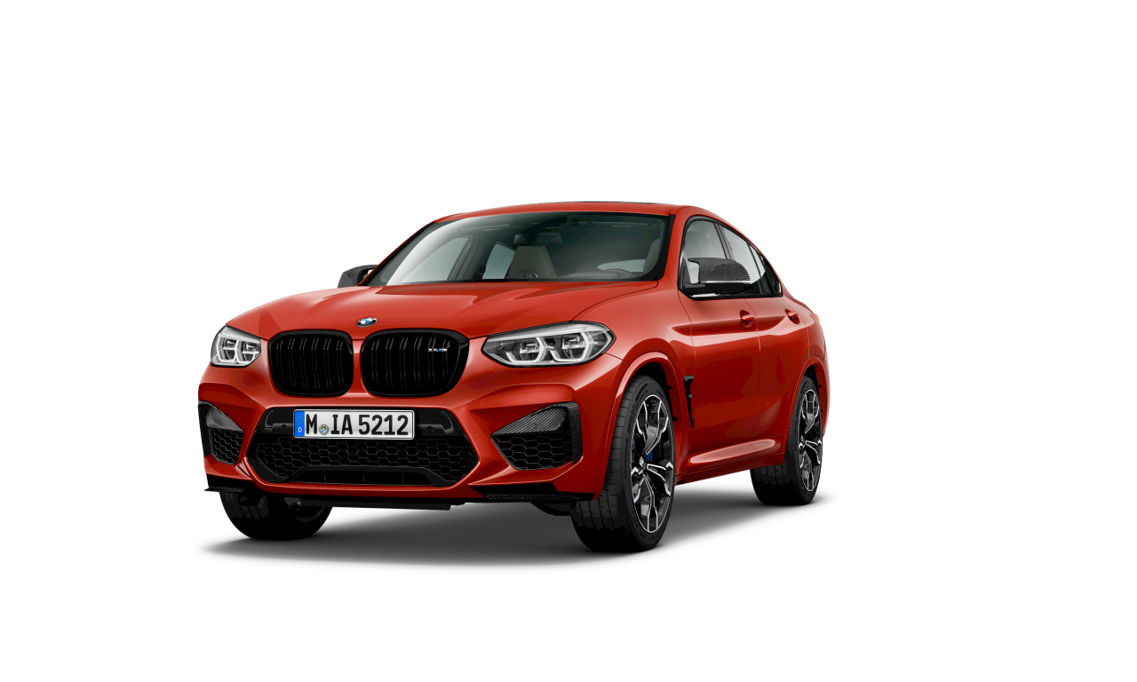 BMW X4 M Competition в цвят Toronto Red metallic, екстериор.