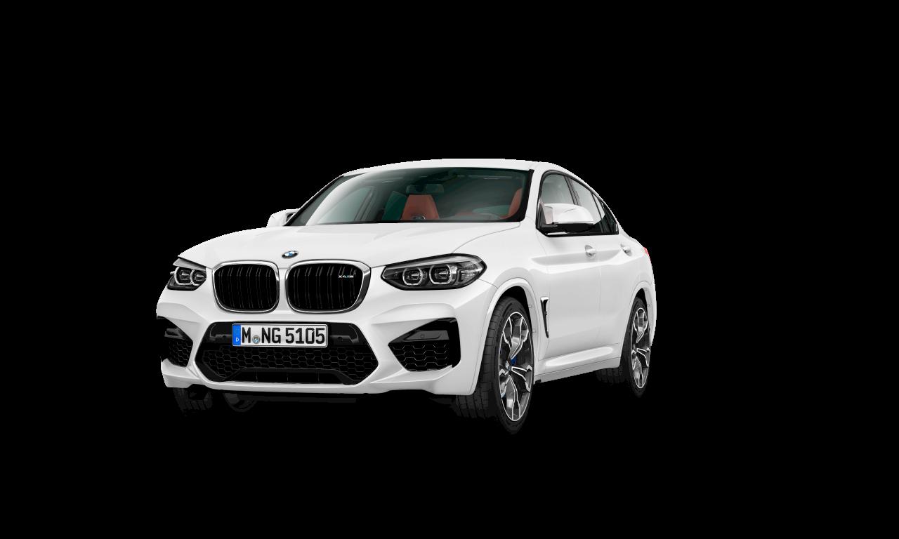 BMW X4 M in Alpinweiß, Exterieur.