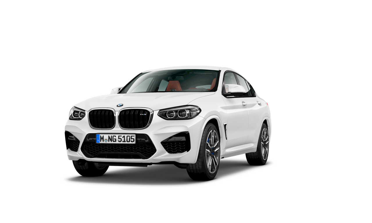 BMW X4 M in Alpine White, exterior.