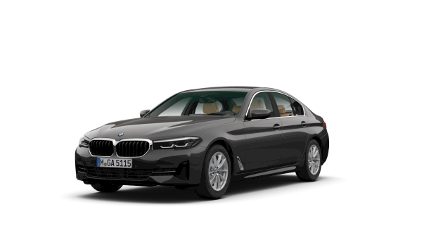 Zijaanzicht BMW 518d Sedan Executive