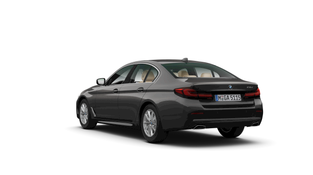 Achteraanzicht BMW 518d Sedan Executive