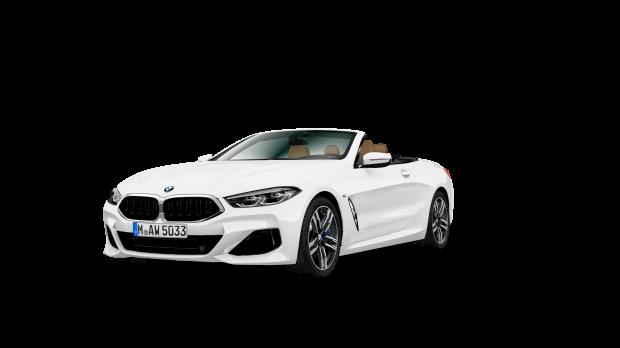 Zijaanzicht BMW 840i Cabrio