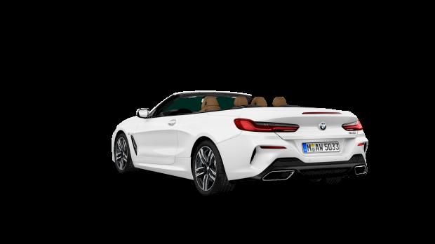 Achteraanzicht BMW 840i Cabrio
