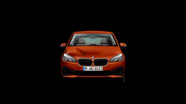 Vooraanzicht BMW 216i Active Tourer