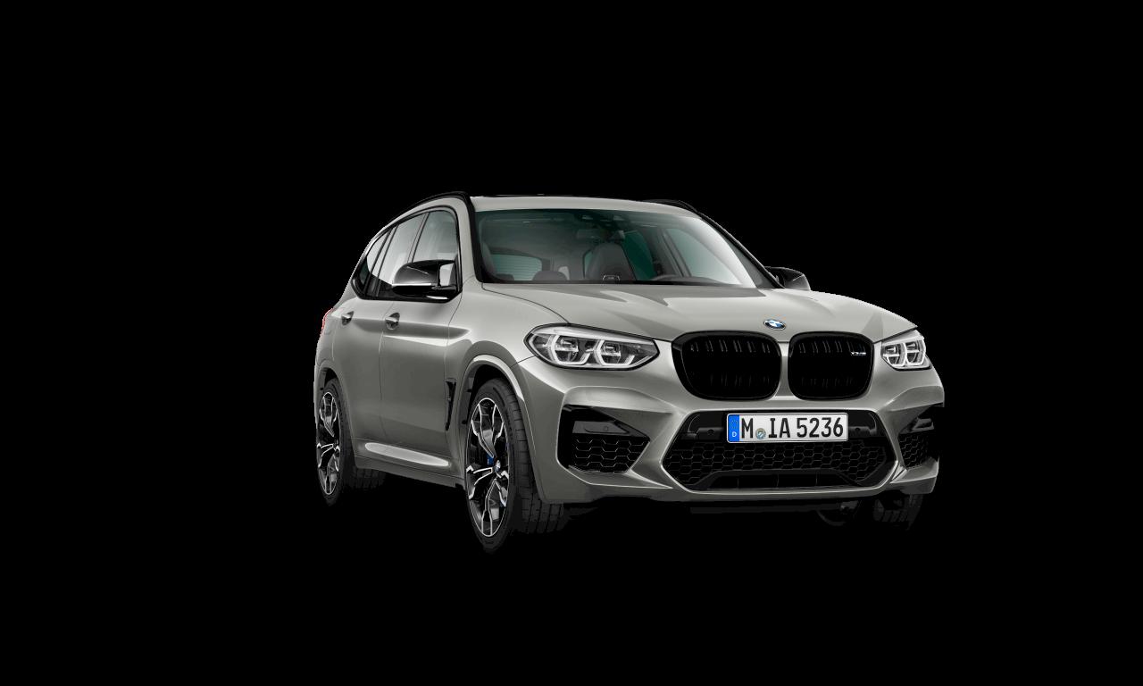 الهيكل الخارجي لسيارة BMW X3 M Competition باللون الرمادي (دونينجتون) ميتاليك.