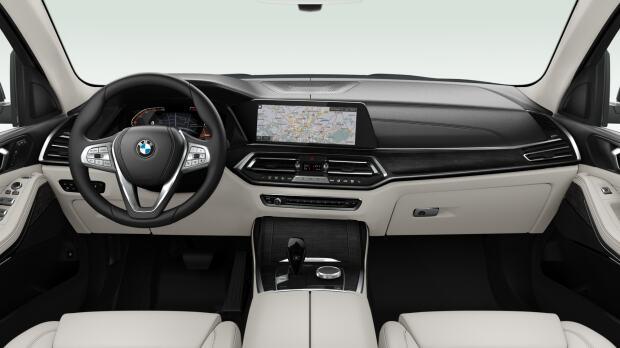 Interieur van de BMW X7 xDrive 40i