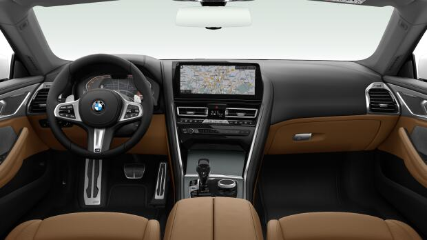 Interieur van de BMW 840i Cabrio