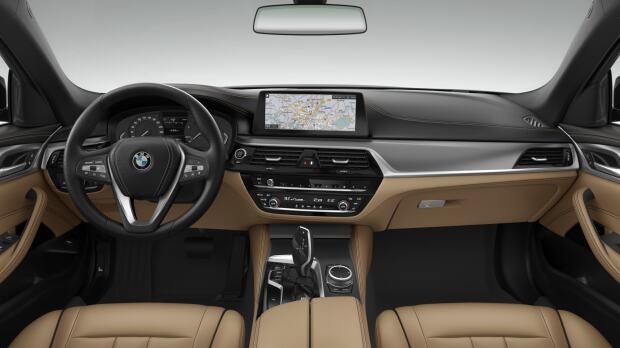 Interieur van de BMW 518d Sedan Executive