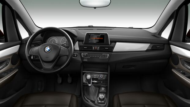 Interieur van de BMW 216i Active Tourer