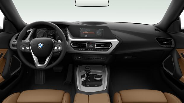 Interieur van de BMW Z4 sDrive20i