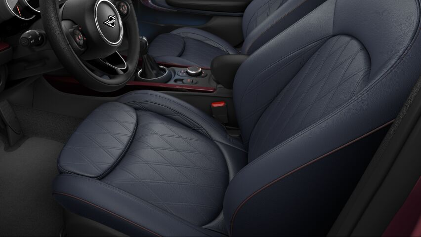 MINI Cooper Clubman leather chester seats in indigo blue