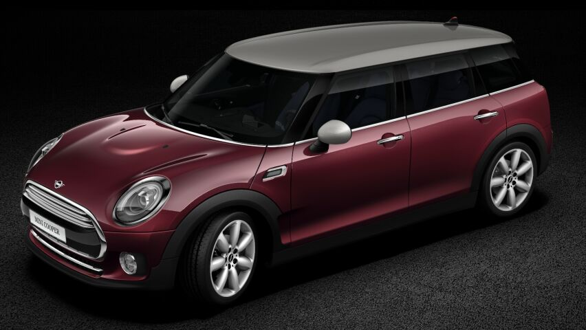 MINI Cooper Clubman contrasting coloured roof