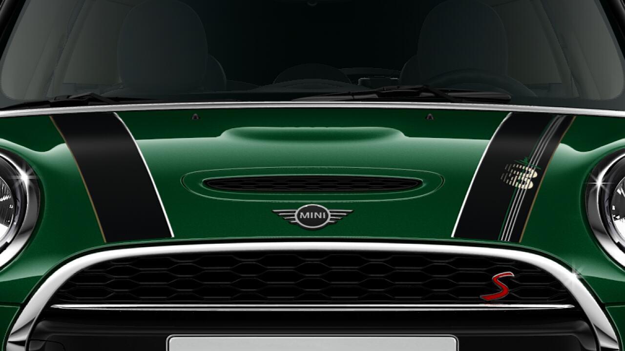 Alt tag: MINI Cooper S 5 Door – Bonnet Stripes