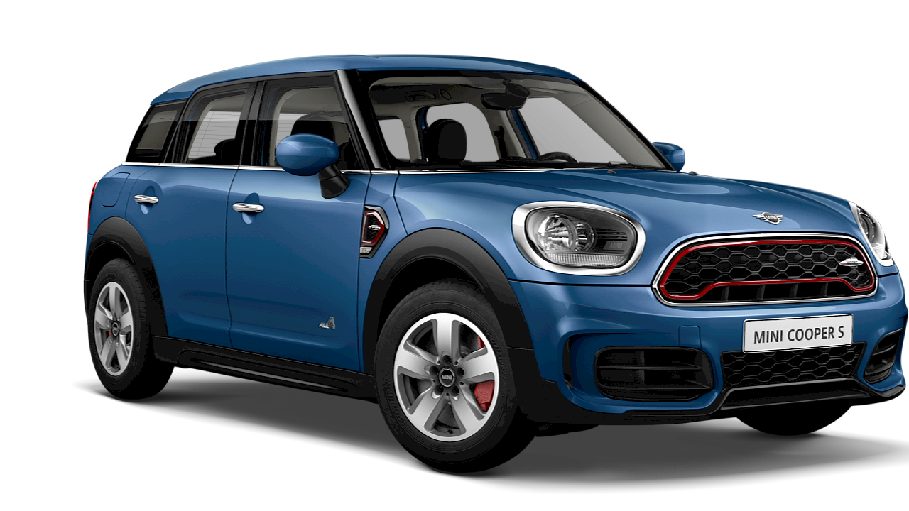 MINI Cooper S All 4 – blue – front and side view