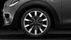 """MINI Cooper Hatch 5 Door 15"""" heli spoke silver light-alloy wheels"""