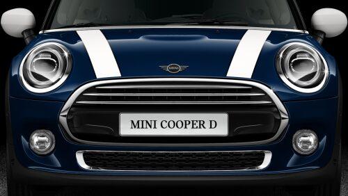 MINI Cooper D 3 Door front hood profile view