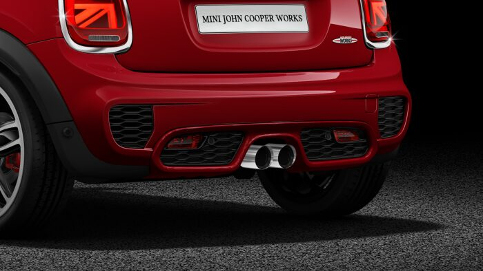 MINI John Cooper Works Hatch twin exhaust pipes