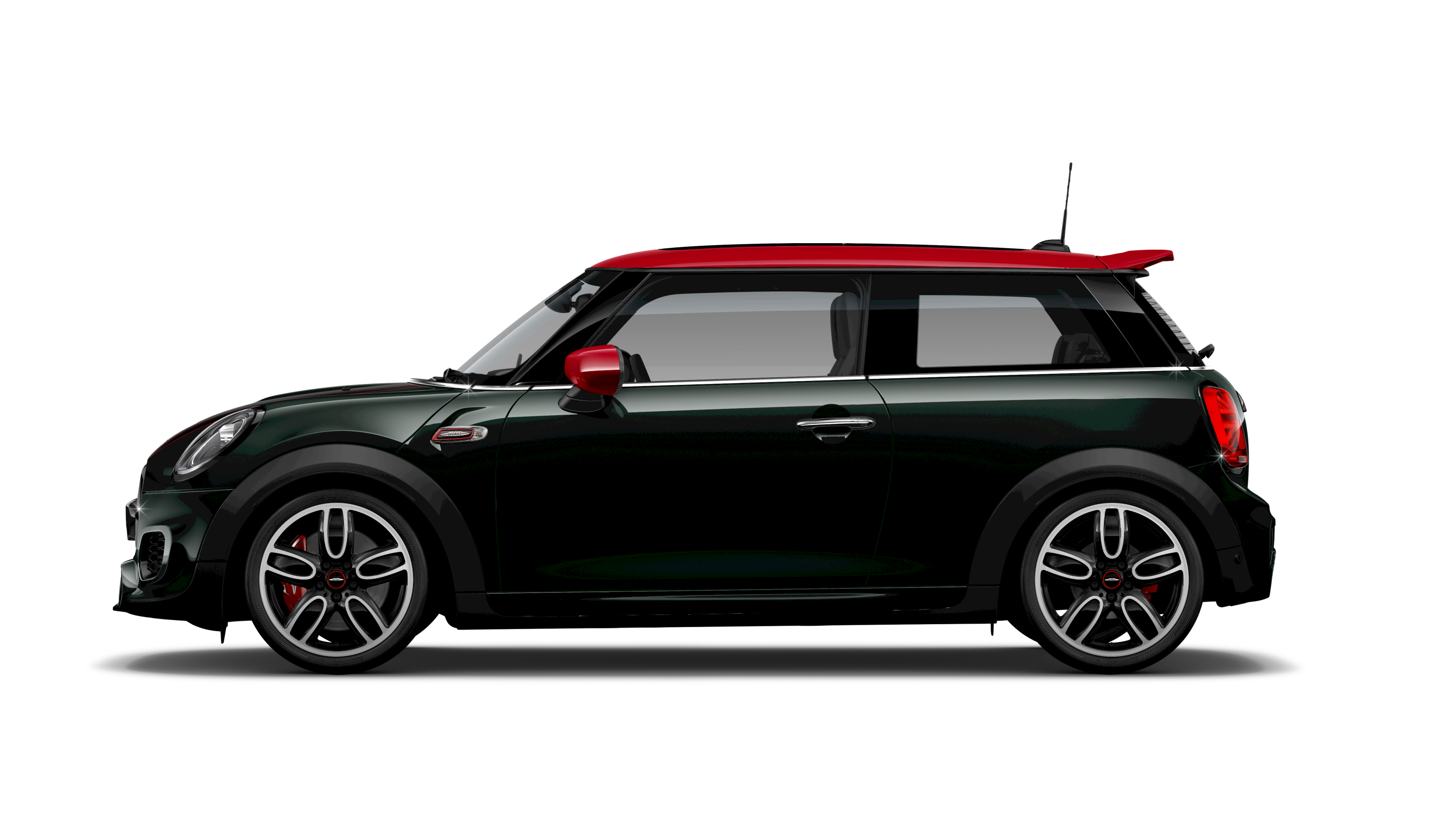 MINI JOHN COOPER WORKS HATCH SIDE VIEW