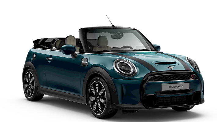 MINI Cabrio – Sidewalk – Enigmatic Black / Deep Laguna Metallic