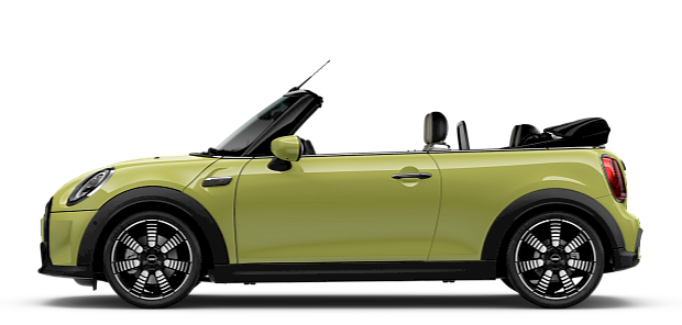 MINI Convertible – side view – blue