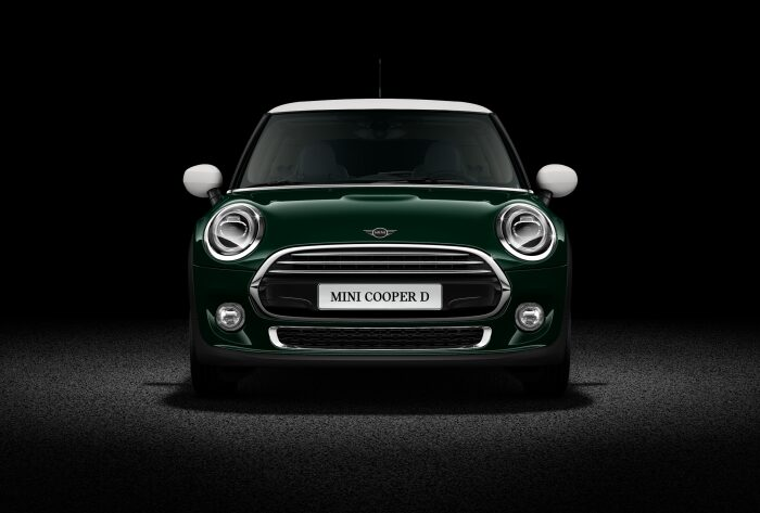 MINI Cooper D 3 Door front profile view