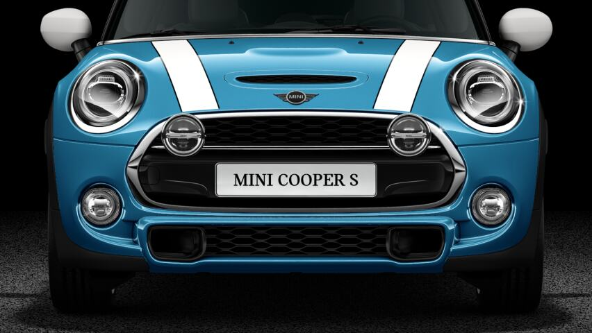 MINI Cooper S Hatch 5-Door Chrome and Black High Gloss LED lights