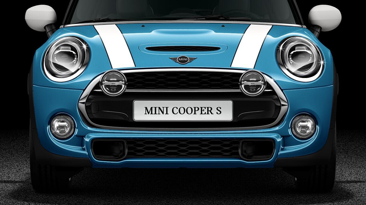 MINI Cooper S Hatch 5 Portas luzes de LED cromadas e preto altamente brilhante