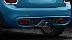 MINI Cooper S Hatch 5-Door dual exhaust tailpipes