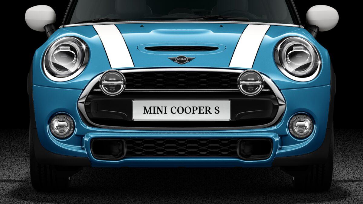 MINI Cooper S Hatch 5-Door Chrome and Black High Gloss LED lights