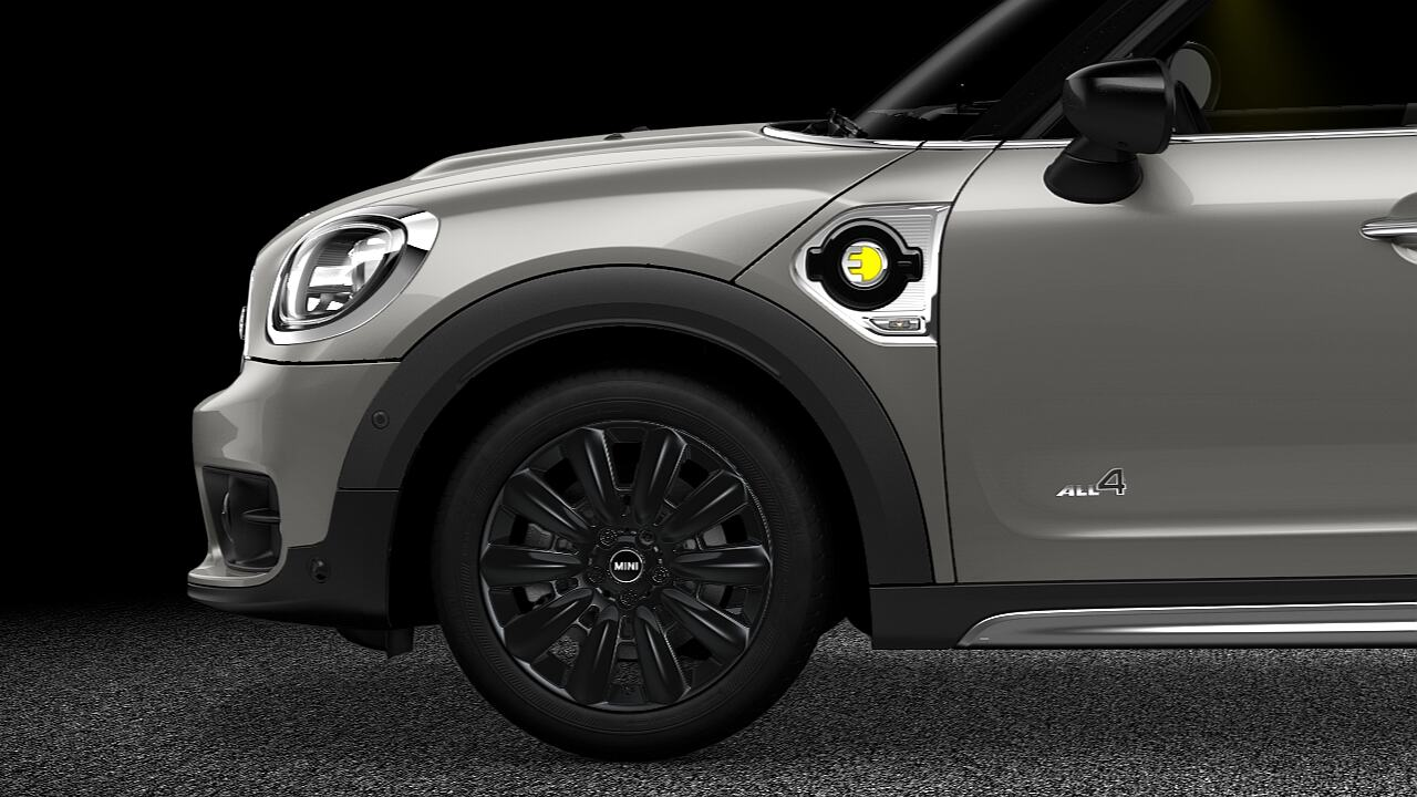 "MINI Countryman 18"" light alloy wheels black pin spoke - ELECTRIC."
