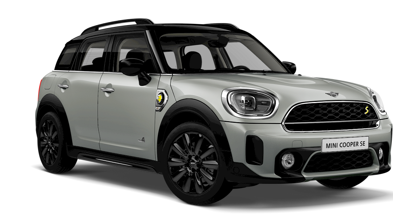 MINI Cooper SE All 4 – blue – front and side view