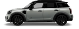 MINI Cooper SE All 4 –  blanco plateado - vista frontal y lateral