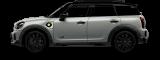 MINI Cooper SE All 4 – blanco plateado - vista frontal y lateral