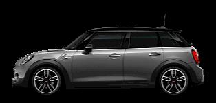 MINI 5-door Hatch –side view – silver