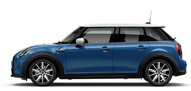 MINI 5-door Hatch – side view – silver