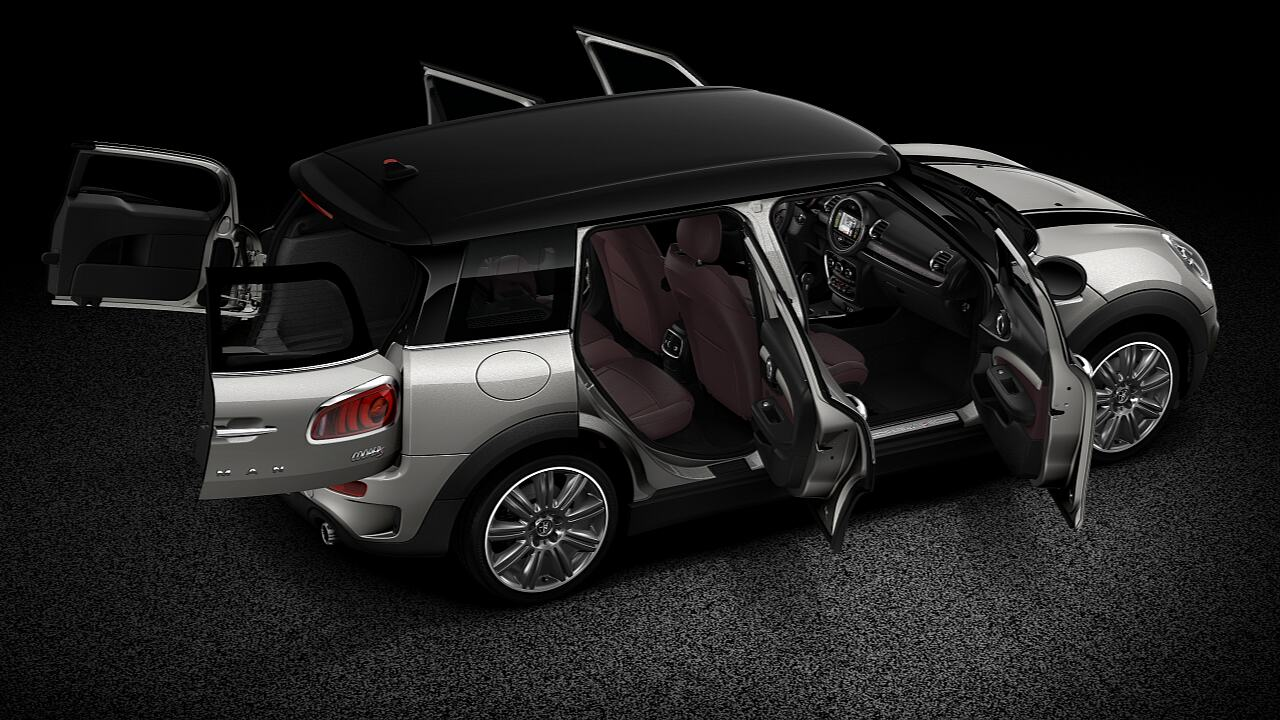 Vista da carroceria aberta do MINI Cooper S Clubman