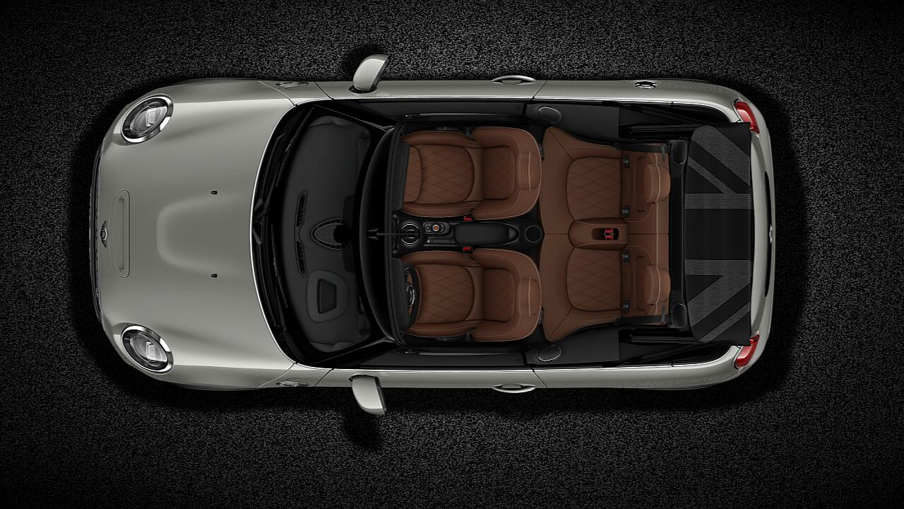 Hình chiếu từ trên của chiếc MINI Cooper S Convertible mui trần