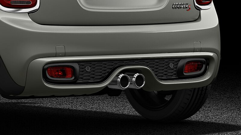 MINI Cooper S Convertible double exhaust tailpipes