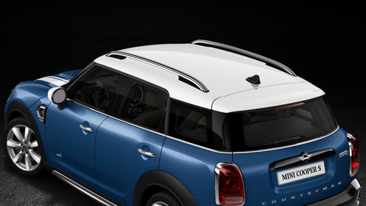 Techo y carcasas de retrovisores exteriores del MINI Cooper S Countryman ALL4.