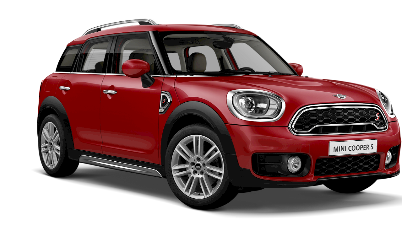 MINI Cooper S CROSSOVER. – blue – front and side view