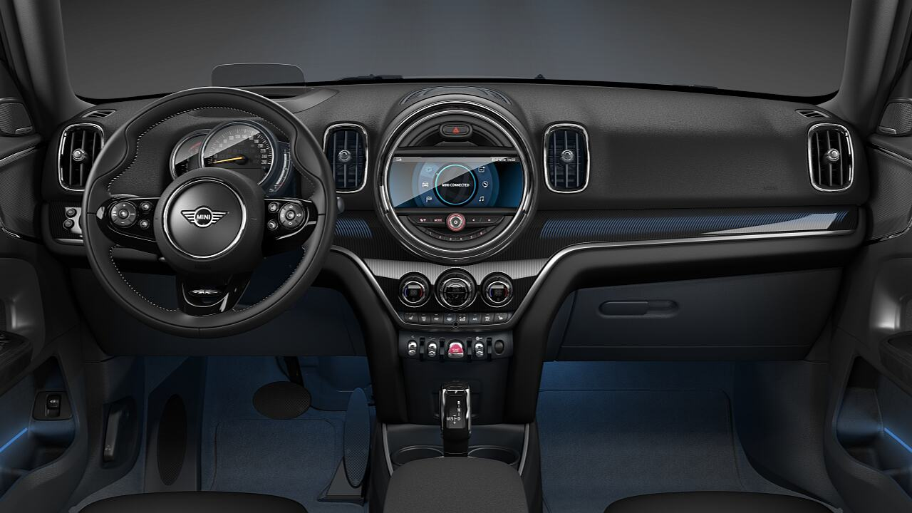MINI Countryman MINI Yours piano black illuminated interior - DESIGN.