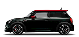 MINI John Cooper Works – side view – green and red