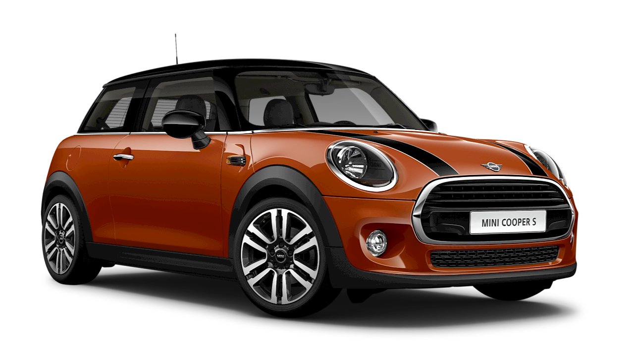 MINI Cooper 3-door Hatch – orange – side view