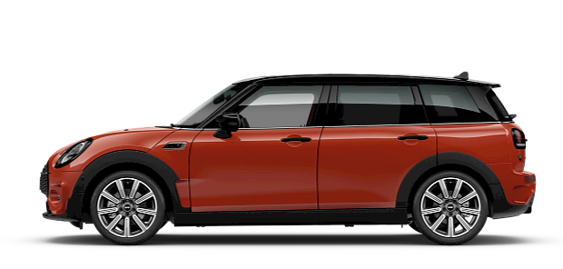 MINI Clubman – side view – orange