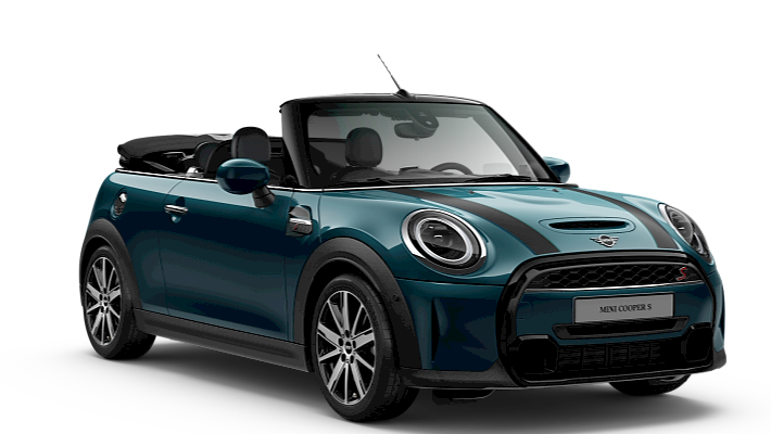 MINI Convertible – Sidewalk – Engimatic black / Deep Laguna metallic